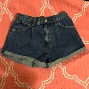 High waisted pleated shorts.